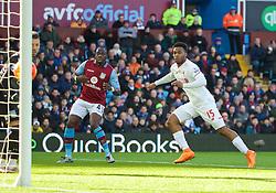 BIRMINGHAM, ENGLAND - Sunday, February 14, 2016: Liverpool's Daniel Sturridge scores the first goal against Aston Villa during the Premier League match at Villa Park. (Pic by David Rawcliffe/Propaganda)