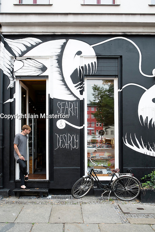 Alternative shop in bohemian district of Kreuzberg  in Berlin Germany