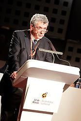 22.03.2016, Ciudad del Futbol de Las Rozas, Madrid, ESP, RFEF, Pressekonferenz spanische Fußballnationalmannschaft, im Bild Angel Maria Villar, President of RFEF, // during a press conference of spanish national football Team at the Ciudad del Futbol de Las Rozas in Madrid, Spain on 2016/03/22. EXPA Pictures © 2016, PhotoCredit: EXPA/ Alterphotos/ Acero<br /> <br /> *****ATTENTION - OUT of ESP, SUI*****