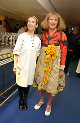 Left to right, SAM TAYLOR-WOOD and Artist GRAYSON PERRY at an exhibition of leading artist Ellsworth Kelly at the Serpentine Gallery, Kensington Gardens, London followed by a dinner at the Riverside Cafe, London on 17th March 2006.<br />