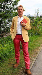 Michael Portillo with his famous Bradshaw's Guide filming for his new television series in Connel, Argyll and Bute....... (c) Stephen Lawson | Edinburgh Elite media
