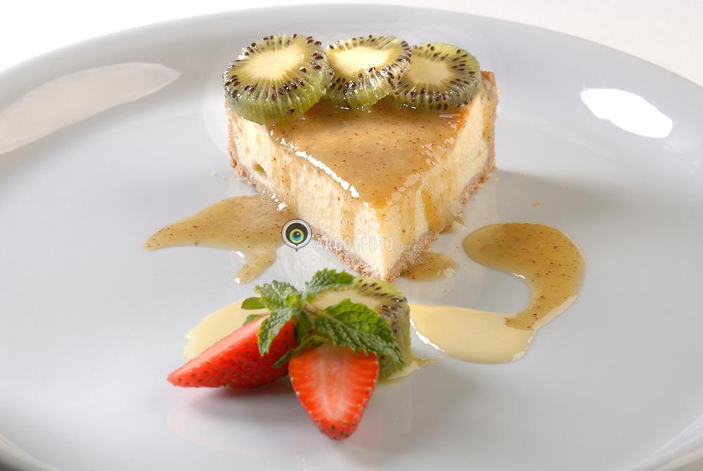 Torta de ricota com calda de Kiwi / Cheese pie with kiwi syrup - 2007