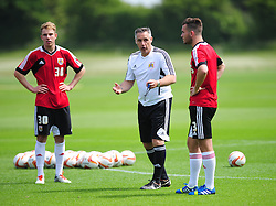 Bristol City's first team coach, John Pemberton gives instructions - Photo mandatory by-line: Dougie Allward/JMP - Tel: Mobile: 07966 386802 28/06/2013 - SPORT - FOOTBALL - Bristol -  Bristol City - Pre Season Training - Npower League One
