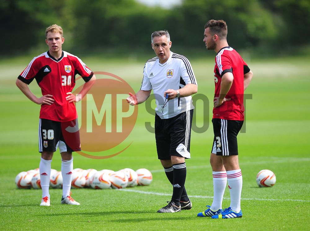 Bristol City's first team coach, John Pemberton gives instructions - Photo mandatory by-line: Dougie Allward/JMP - Tel: Mobile: 07966 386802 28/06/2013 - SPORT - FOOTBALL - Bristol -  Bristol City - Pre Season Training - Npower League One