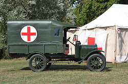 BRITISH MODEL T FORD FIRST WORLD WAR AMBULANCE, Centenary of Passchendaele 100 years, 1st August 2017