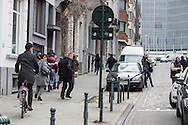 Police warned and shouted to people to run away at Rue Joseph II in the aftermatch of the explosion at Maelbeek Metro station in Brussels. Here at Rue Joseph II at the EU Commission for Agri. Photo: Erik Luntang