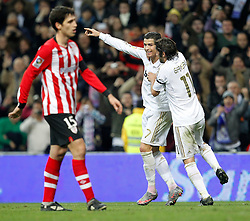 22.01.2012, Santiago Bernabeu Stadion, Madrid, ESP, Primera Division, Real Madrid vs Athletic Bilbao, 1. Spieltag, Nachtrag, im Bild Real Madrid's Cristiano Ronaldo goal // during the football match of spanish 'primera divison' league, 1th round, supplement, between Real Madrid and Athletic Bilbao at Santiago Bernabeu stadium, Madrid, Spain on 2012/01/22. EXPA Pictures © 2012, PhotoCredit: EXPA/ Alterphotos/ Cesar Cebolla..***** ATTENTION - OUT OF ESP and SUI *****