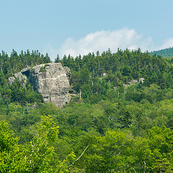Square Ledge as seen from the Appalachian Mountain Club's Pinkham Notch Visitor's Center in New Hampshire's White Mountains.