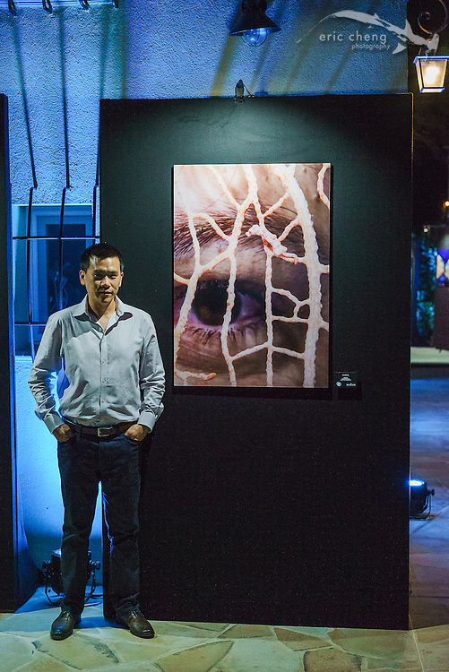 Me, with my shot of a pygmy seahorse and the eye of Alexis Tabah
