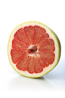 Grapefruit on white background - close-up
