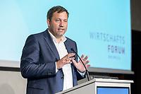 12 SEP 2019, BERLIN/GERMANY:<br /> Lars Klingbeil, SPD Generalsekretaer, haelt eine Rede, Jahreskonferenz des Wirtschaftsforums der SPD,  The Ritz-Carlton Berlin<br /> IMAGE: 20190912-01-283