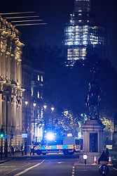 © Licensed to London News Pictures. 05/11/2018. London, UK. The scene where a suspicious package has been found on Whitehall. Police have closed the road. Photo credit : Tom Nicholson/LNP