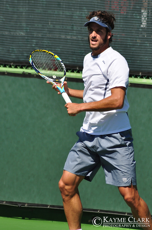 Feliciano Lopez at the BNP Paribas Open in Indian Wells, California.