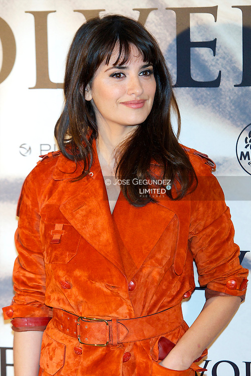 Spanish Actress Penelope Cruz attends the 'Venuto Al Mondo' photocall at Santo Mauro Hotel on January 10, 2013 in Madrid