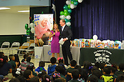 A new initiative of the Barbara Bush Houston Literacy Foundation called My Home Library kicked off Jan. 17, 2017, at Browning ES. Marathon Oil CEO Lee Tillman spoke about reading to his third-grade son.