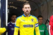 AFC Wimbledon midfielder Scott Wagstaff (7) emerges from the tunnel ahead of the EFL Sky Bet League 1 match between Rotherham United and AFC Wimbledon at the AESSEAL New York Stadium, Rotherham, England on 15 February 2020.