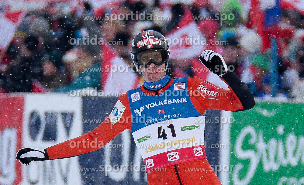 15.01.2012, Kulm, Bad Mitterndorf, AUT, FIS Ski Flug Weltcup, Ersatzkonkurrenz fuer Samstag, im Bild Anders Bardal (NOR) //  Anders Bardal from Norway during the replaced competition for saturday of FIS Ski Flying World Cup at the 'Kulm', Bad Mitterndorf, Austria on 2012/01/15, EXPA Pictures © 2012, PhotoCredit: EXPA/ Erwin Scheriau