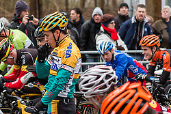 Tom Meeusen (BEL) at the start, Men Elite, Cyclo-cross World Cup Hoogerheide, The Netherlands, 25 January 2015, Photo by Pim Nijland / PelotonPhotos.com