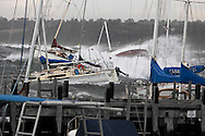 Storm damage to yachts at Mornington Yacht Club. <br /> Larger JPEGS and TIFFs available. Contact us via  www.photograhy4business.com