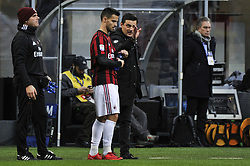 November 26, 2017 - Milan, Italy - Jesus Suso and Vincenzo Montella of AC Milan during Italian serie A match AC Milan vs Torino FC at San Siro Stadium  (Credit Image: © Gaetano Piazzolla/Pacific Press via ZUMA Wire)