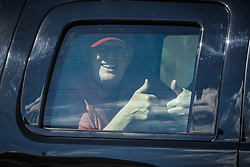 February 17, 2019 - West Palm Beach, Florida, U.S. - President DONALD TRUMP travels east to Mar-a-Lago through West Palm Beach after Sunday morning golf game. (Credit Image: © Thomas Cordy/The Palm Beach Post via ZUMA Wire)