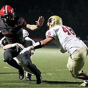 November 06, 2015; Oregon City, OR, USA; CONNOR MITCHELL (5)  runs the ball.  Oregon City hosted Southridge at Pioneer Stadium.  Photo by David Blair