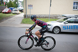 Lisa Brennauer (GER) of CANYON//SRAM Racing rides to the start of Stage 1 of the Lotto Thuringen Ladies Tour - a 124.8 km road race, starting and finishing in Schleiz on July 13, 2017, in Thuringen, Germany. (Photo by Balint Hamvas/Velofocus.com)