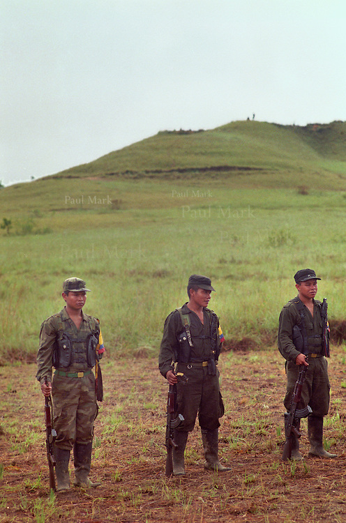 Guerrillas of the FARC (Revolutionary Armed Forces of Colombia) a left-wing insurgent group.