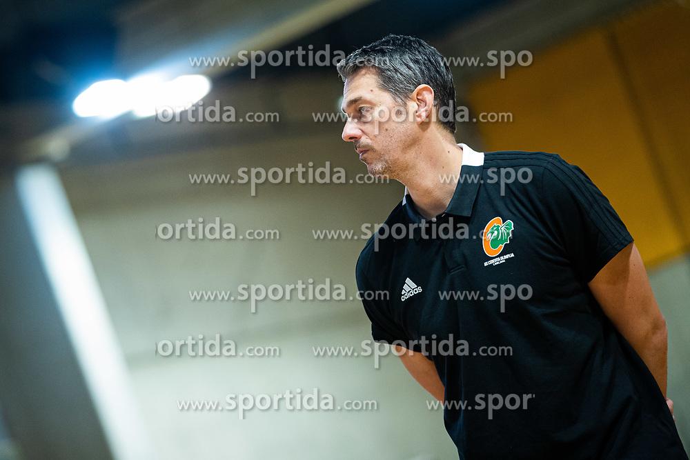 Jurica Golemac new head coach during his first practice with team KK Cedevita Olimpija on January 28, 2020 in Arena Stozice, Ljubljana, Slovenia. Photo By Grega Valancic / Sportida