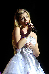 Katherine Jenkins at Sheffield City Hall where she announced her new release had entered the Classical Chart at Number one and into the pop charts at number Five. On the 4th of Novemeber she  will  recorded a single  at the Wales v Australia rugby match at the Millennium Stadium, 'The Green Green Grass Of Home'  was released as a single on 20th November and will also feature an exclusive version of 'Have Yourself A Merry Little Christmas'..1st December 2006.Copyright Paul David Drabble
