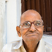 Portrait of Rajasthani man in old town Udaipur