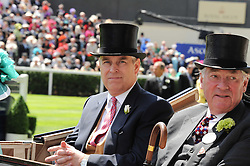 Left to right, HRH The DUKE OF YORK and LORD VESTEY at the first day of the 2010 Royal Ascot Racing festival at Ascot Racecourse, Berkshire on 15th June 2010.