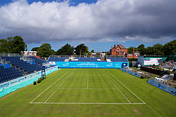 LIVERPOOL, ENGLAND - Thursday, June 15, 2017: A general view of the centre court as preparations continue ahead of Day One of the Liverpool Hope University International Tennis Tournament 2017 at the Liverpool Cricket Club. (Pic by David Rawcliffe/Propaganda)