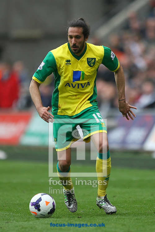 Jonas Gutierrez of Norwich in action during the Barclays Premier League match at the Liberty Stadium, Swansea<br /> Picture by Paul Chesterton/Focus Images Ltd +44 7904 640267<br /> 29/03/2014