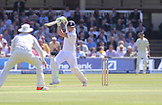 England Ben Stokes hits four runs  during the first day of the Investec 1st Test  match between England and New Zealand at Lord's Cricket Ground, St John's Wood, United Kingdom on 21 May 2015. Photo by Ellie  Hoad.