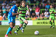 Forest Green Rovers Dayle Grubb(8) runs forward during the EFL Sky Bet League 2 match between Forest Green Rovers and Grimsby Town FC at the New Lawn, Forest Green, United Kingdom on 5 May 2018. Picture by Shane Healey.