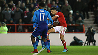 Eric Lichaj scores his second of the game against Arsenal  during The Emirates FA Cup Third Round match between Nottingham Forest and Arsenal at City Ground on January 7, 2018 in Nottingham, England.