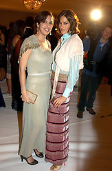 Left to right, JESSICA DE ROTHSCHILD and YASMIN LE BON at the Moet & Chandon Fashion Tribute 2005 to Matthew Williamson, held at Old Billingsgate, City of London on 16th February 2005.<br />