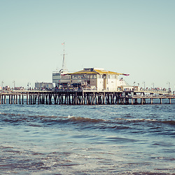 End of Santa Monica Pier photo with Mariasol restaurant and Harbor Office buildings in Southern California. Copyright ⓒ 2017 Paul Velgos with All Rights Reserved.