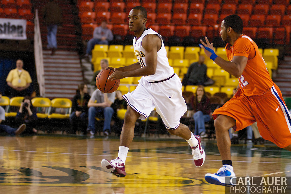 November 25th, 2010:  Anchorage, Alaska - Arizona State guard Jamelle McMillan (10) brings the ball up the court in the Sun Devils 73-55 win over Houston Baptist in their first round game at the Great Alaska Shootout.
