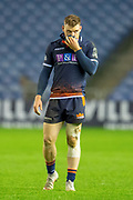 George Taylor (#13) of Edinburgh Rugby during the Guinness Pro 14 2018_19 rugby match between Edinburgh Rugby and Isuzu Southern Kings at the BT Murrayfield Stadium, Edinburgh, Scotland on 5 January 2019.