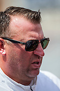 FAYETTEVILLE, AR - SEPTEMBER 5:  Head Coach Bret Bielema of the Arkansas Razorbacks on the field before a game against the UTEP Miners at Razorback Stadium on September 5, 2015 in Fayetteville, Arkansas.  The Razorbacks defeated the Miners 48-13.  (Photo by Wesley Hitt/Getty Images) *** Local Caption *** Bret Bielema