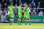 Norwich City forward Jordan Rhodes (11), on loan from Sheffield Wednesday,  celebrates a goal during the EFL Cup match between Wycombe Wanderers and Norwich City at Adams Park, High Wycombe, England on 25 September 2018.