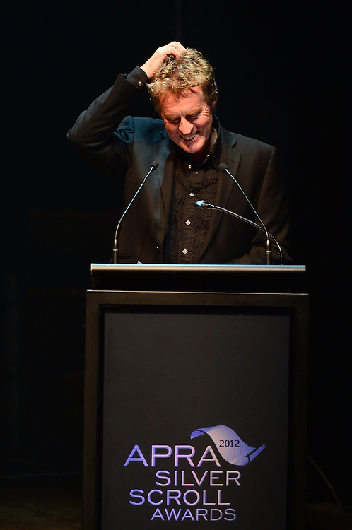 Don McGlashan on stage at the APRA Silver Scrolls Awards 2012. Auckland Town Hall. 13 September 2012.