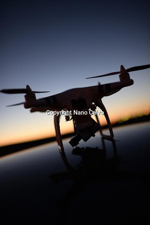Phantom Drone outdoors, at sunset