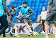 Emre Can pictured during Liverpool training ahead of the Europa League Final at St. Jakob-Park, Basel<br /> Picture by EXPA Pictures/Focus Images Ltd 07814482222<br /> 17/05/2016<br /> ***UK &amp; IRELAND ONLY***<br /> EXPA-FEI-160517-0043.jpg