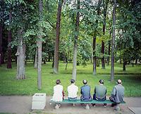Resting in Peterhof.<br /> Foto: Svein Ove Ekornesv&aring;g