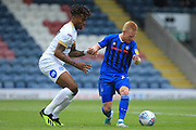 Ivan Toney and David Perkins  during the EFL Sky Bet League 1 match between Rochdale and Peterborough United at Spotland, Rochdale, England on 11 August 2018.