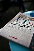 Global Economy Pushed to Brink - headline in the Financial Times Weekend, September 24th, 2011