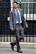 © Licensed to London News Pictures. 11/09/2012. Westminster, UK Secretary of State for Health - Jeremy Hunt. MP's arrive for Cabinet at number 10 Downing Street today 11/09/12. Photo credit : Stephen Simpson/LNP